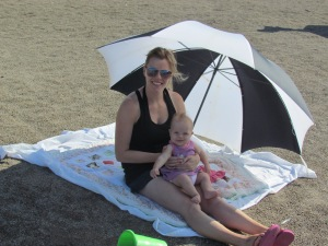Casey and I enjoying the beach