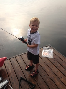 49)  Fishing at my sister-in-law's cottage.