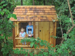 10.  Playhouse delivery!