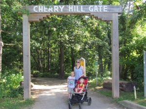 37.  Hiking at Cherry Hill Gate.
